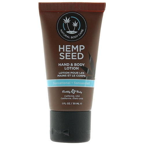 Hemp Seed Hand & Body Lotion 1oz/30ml in Sunsational Earthly Body
