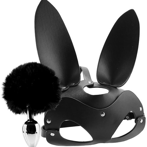 Tailz Bunny Tail Anal Plug & Mask Set