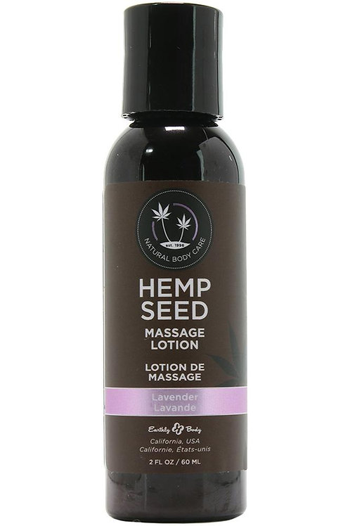 Hemp Seed Massage Lotion 2oz/60ml in Lavender