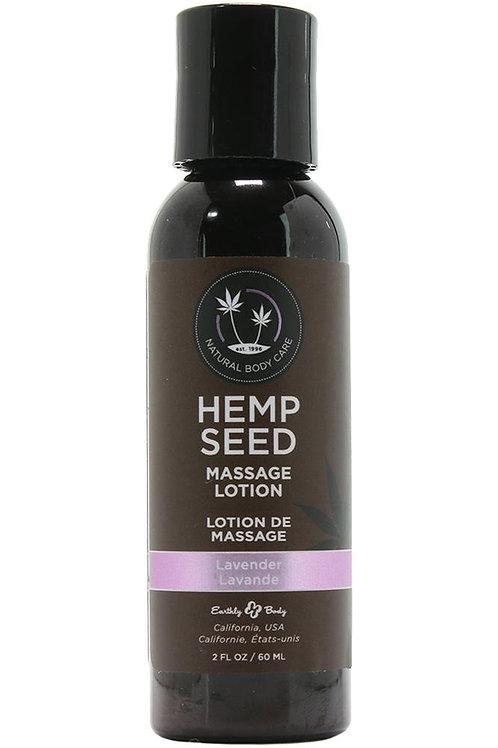 Hemp Seed Massage Lotion 2oz/60ml in Lavender