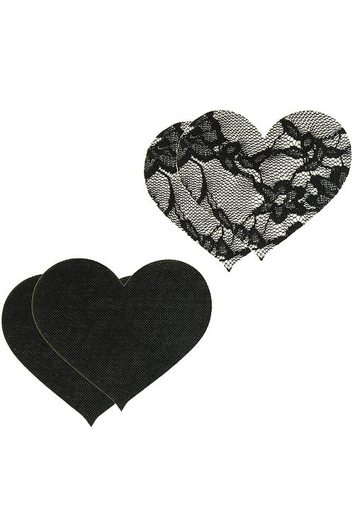 Satin & Lace Heart Pasties