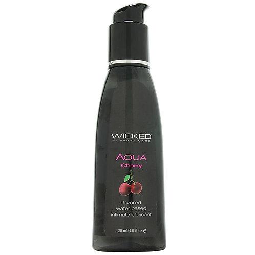 Aqua Flavored Lube 4oz/120ml in Cherry