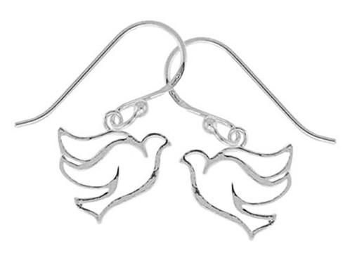 076 Open Dove Earrings