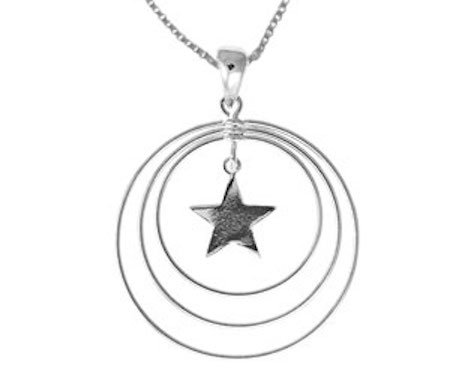 #016  3 Circle Center Star Necklace