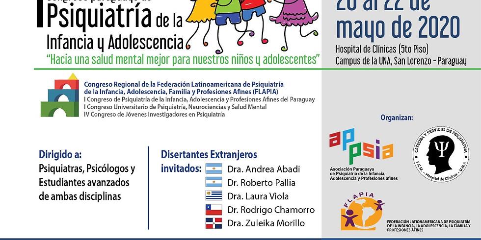 1er Congreso paraguayo de Psiquiatría de la Infancia y Adolescencia