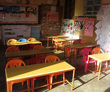Current cramped and outdated classrooms at Circle of Peace School