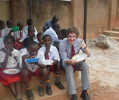 students and volunteers at Circle of Peace School