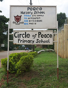 image of sign for Circle of Peace school