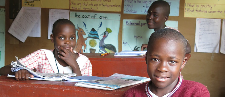 Children studying in the classroom at Circle of Peace School in Uganda