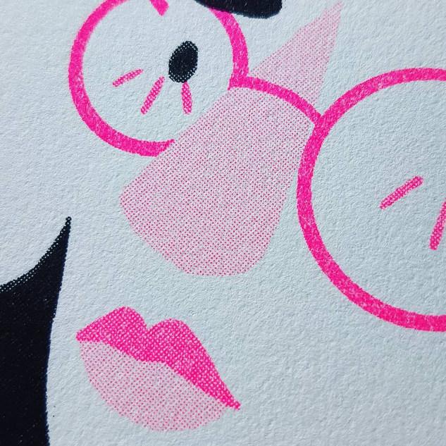 Riso print detail