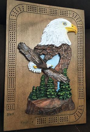Soaring Eagle Custom Carved Cribbage Boa