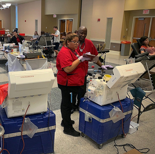 Our Cases at work with the Red Cross