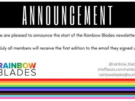 Rainbow Blades Newsletter