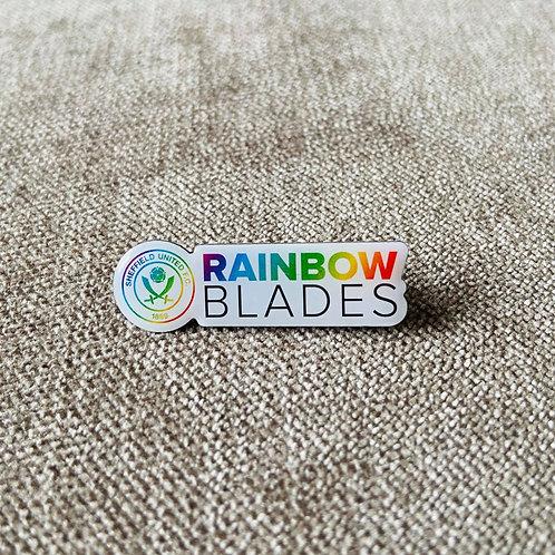 Rainbow Blades Pin Badge