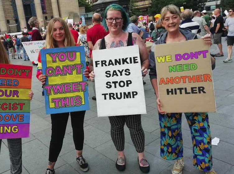 Sheffield Against Trump demo