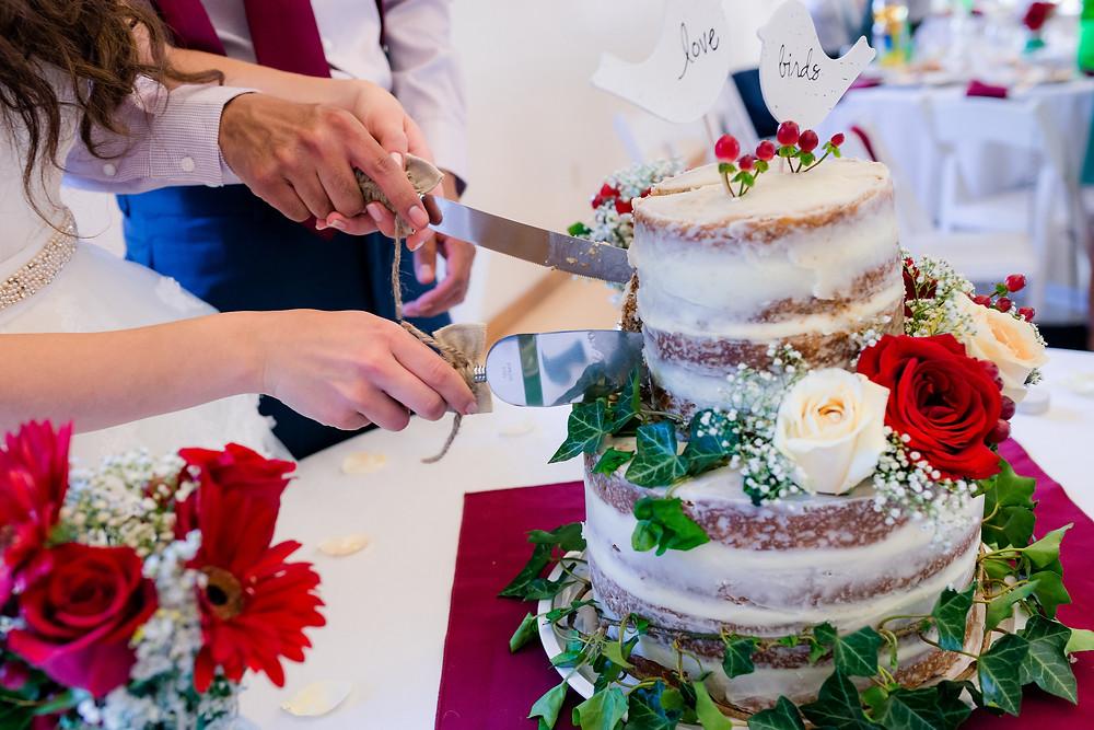close-up wedding cake