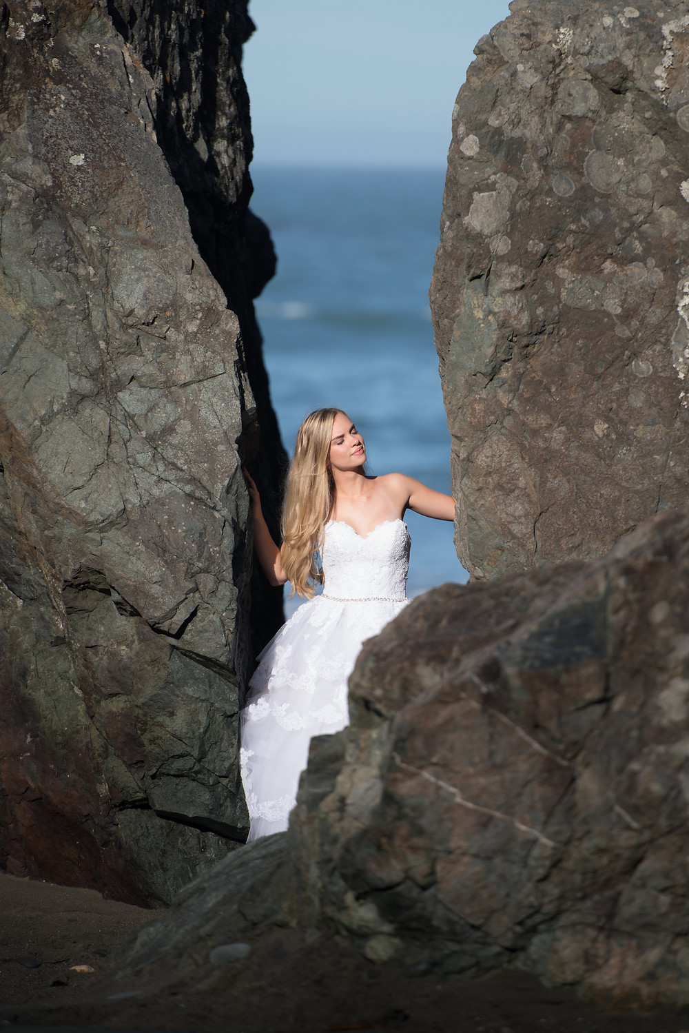 bride between two stones, Portland photgrapher