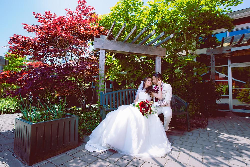 romantic wedding shot