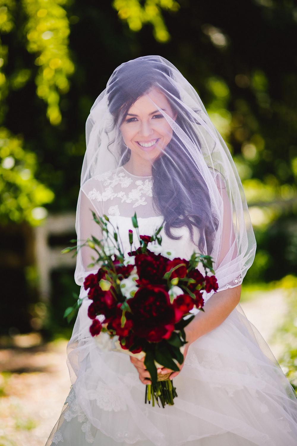 gorgeous bride's portrait