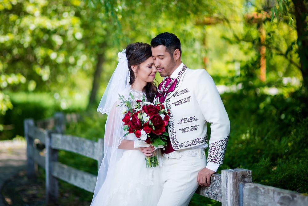romance wedding shot
