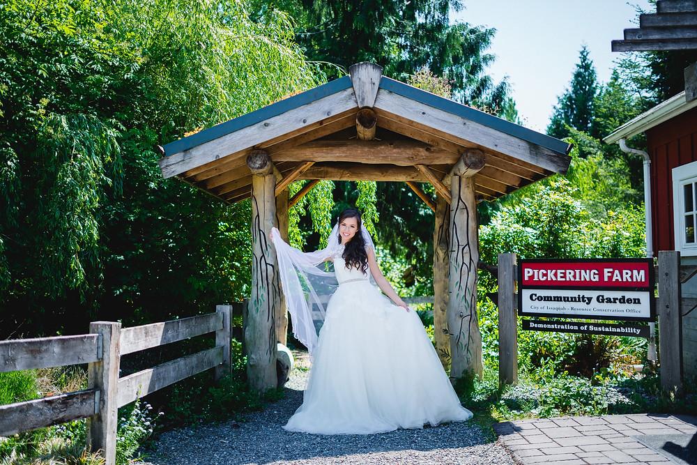 wedding at Pickering farm Community Garden