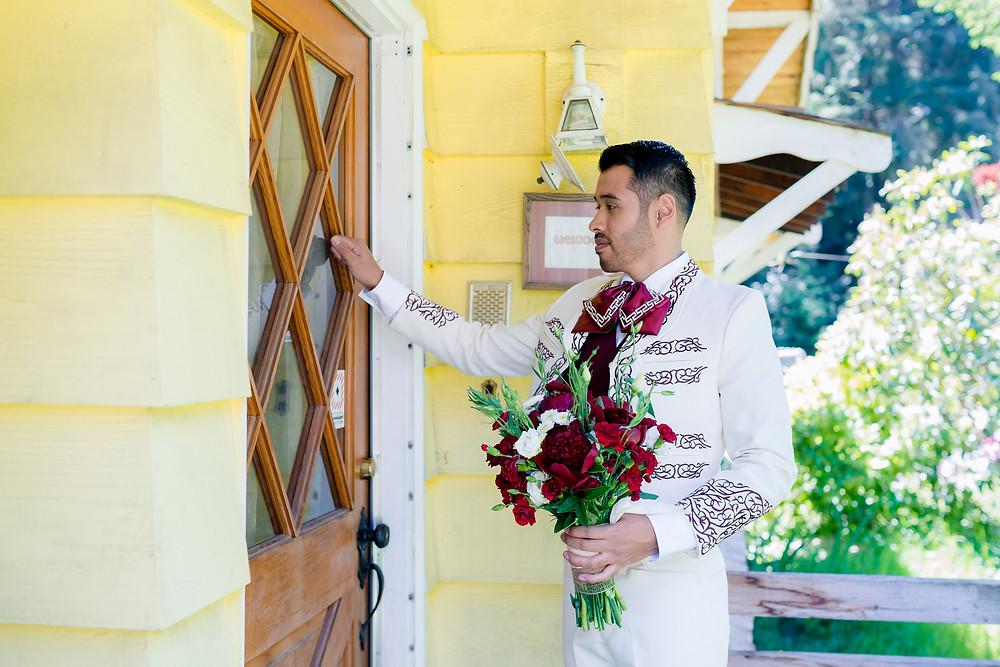 groom at the door