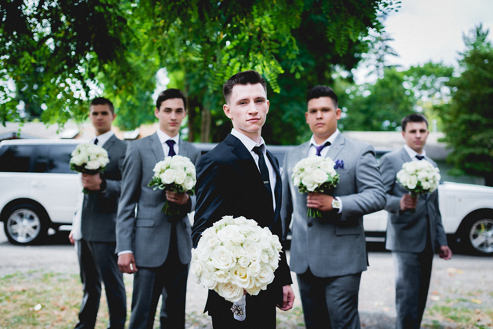 groom and groomsmen by Taras Yasniy Photography