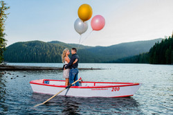 Engagement photo shoot at lake