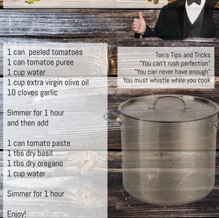 Ton's Sauce- Rare Recipe Challenge