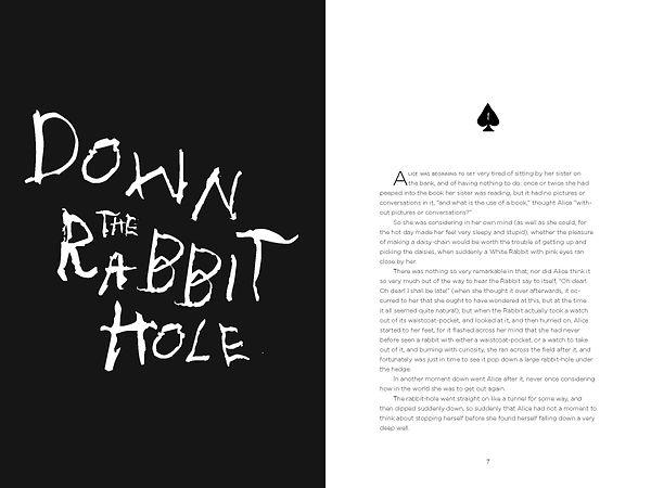 Alice's Adventures in Wonderland Pages T
