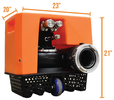 Chief Fire Otter Composite Submersible Pump Overall Dimensions