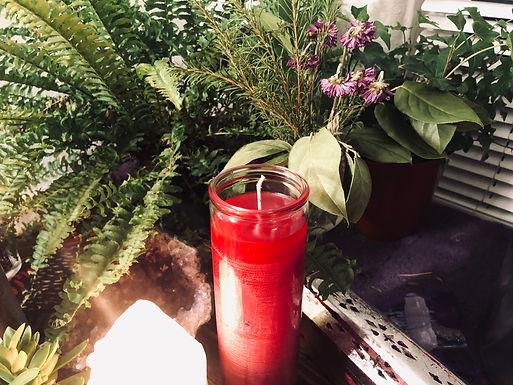 Root Chakra Meditation Candle