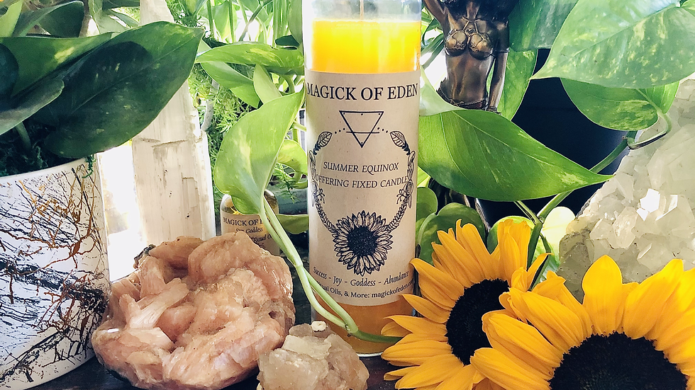 Summer Equinox Fixed Candle