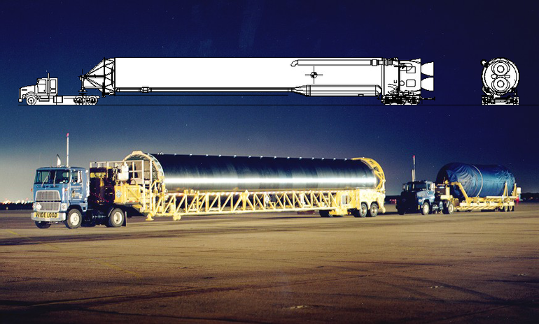 Transporter/Erector for AtlasIIIA
