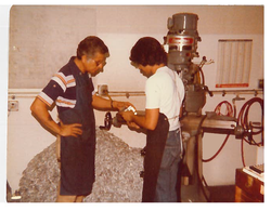Tom and Larry Martinez at our first 1,100 sqft facility
