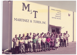 Martinez and Turek's first location and family