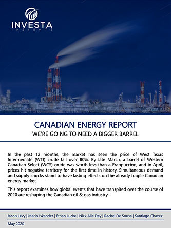 Canadian Energy Report - Investa Insight