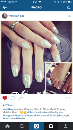 Chrome Nails with 6 shades