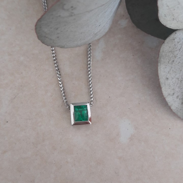 Emerald Slider Pendant
