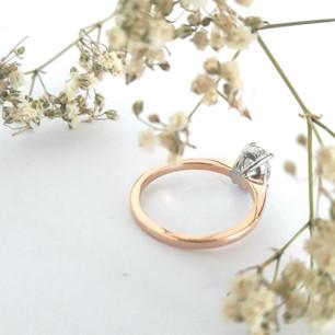 2 Tone Gold diamond Ring