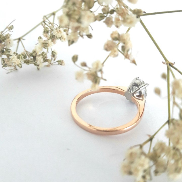 2 Tone Gold diamond Ring