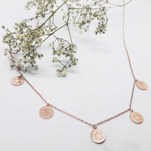 9ct Rose Gold Disc Charms