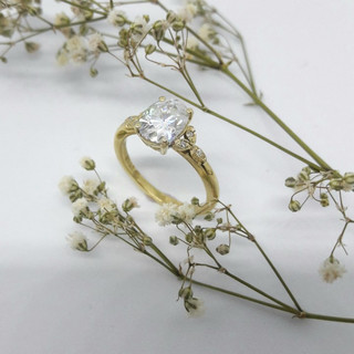 Moissanite Vintage Style Ring