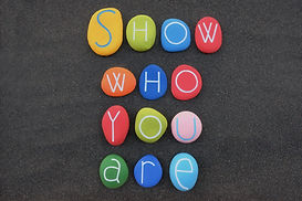 Show who you are, motivational phrase co