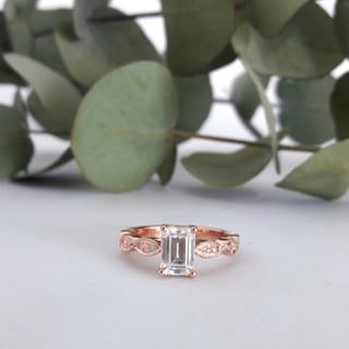 Moissanite Rose Gold Ring
