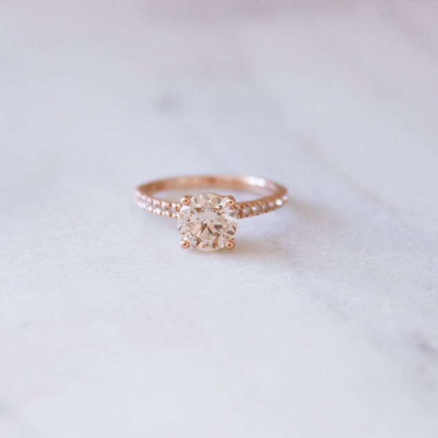 Champaign Diamond Ring