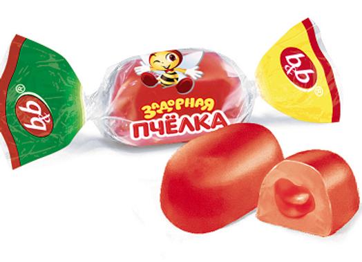 """Желейные конфеты """"Задорная пчелка"""" микс"""
