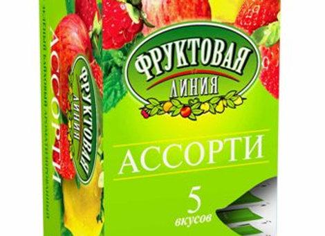 """Чай """"Фруктовая линия"""" Зеленое ассорти"""