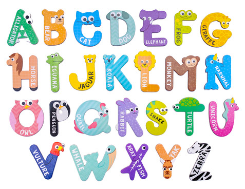 Animal Alphabet Magnets