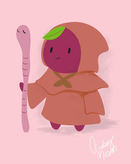 Bulgarian Apple Character Design